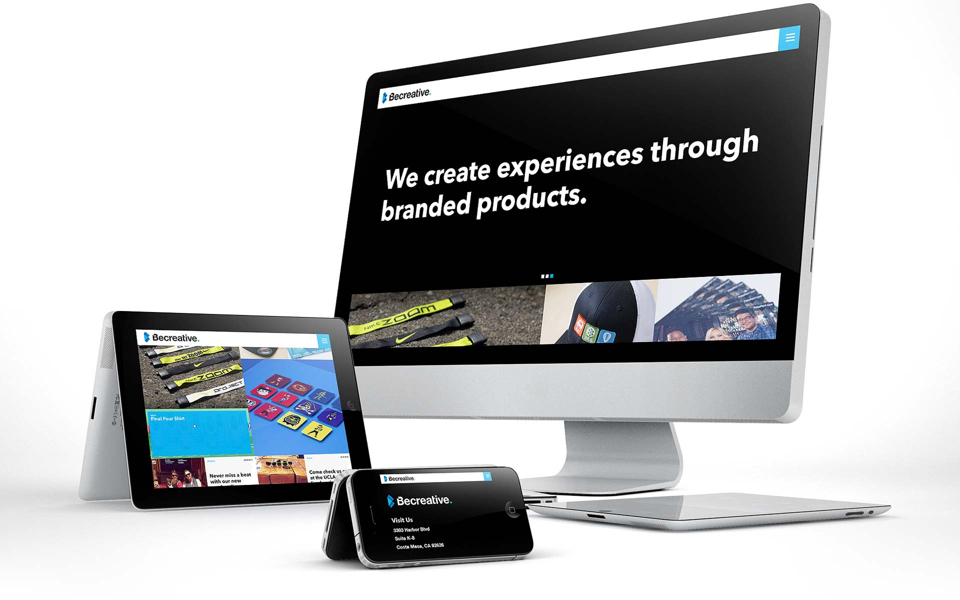 Becreative Marketing Website Mock Up