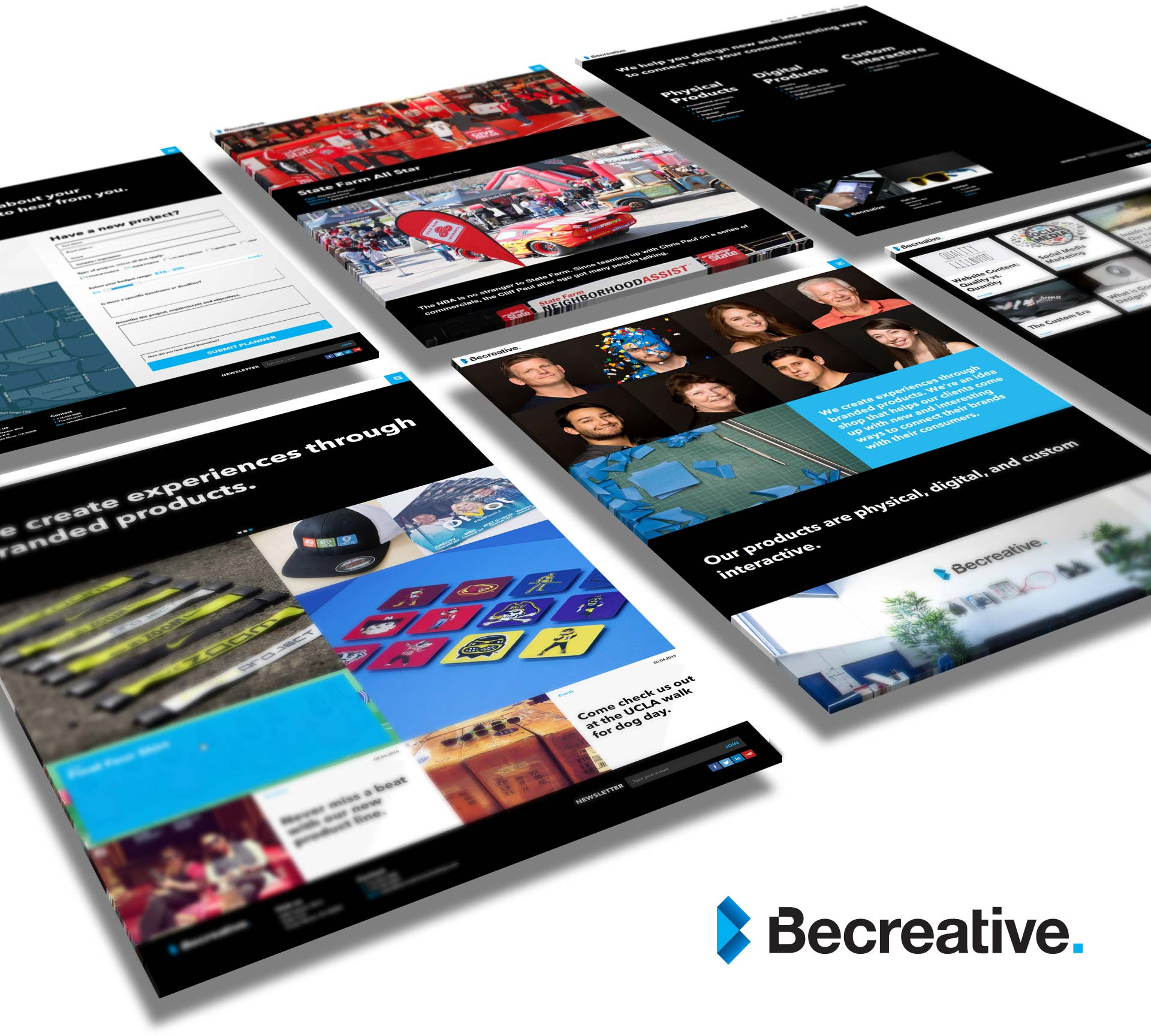 Becreative Marketing Web Pages