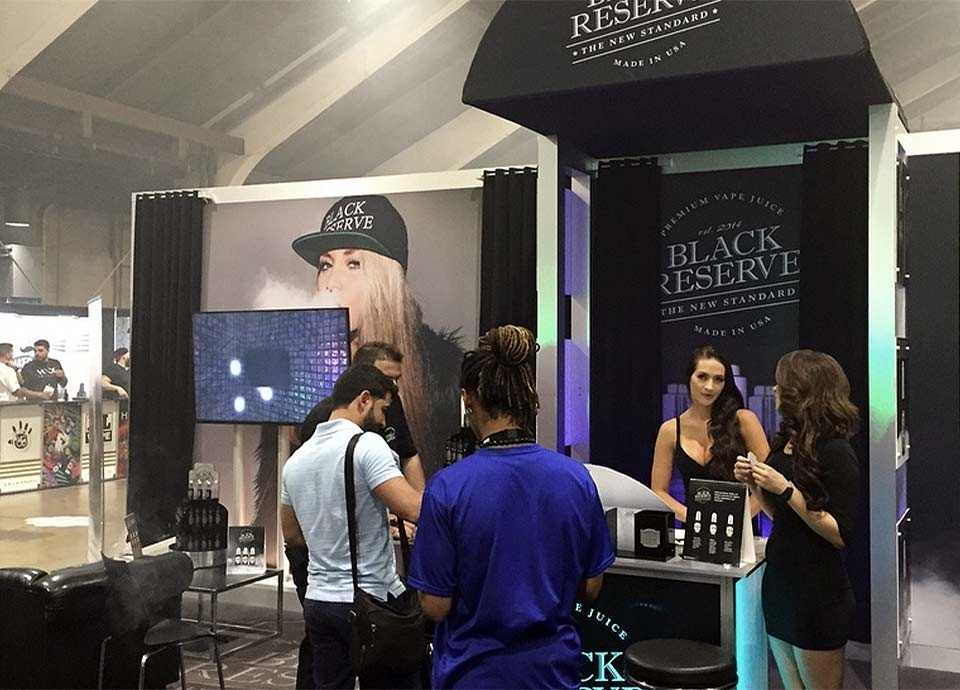 Black Reserve Trade Show Booth