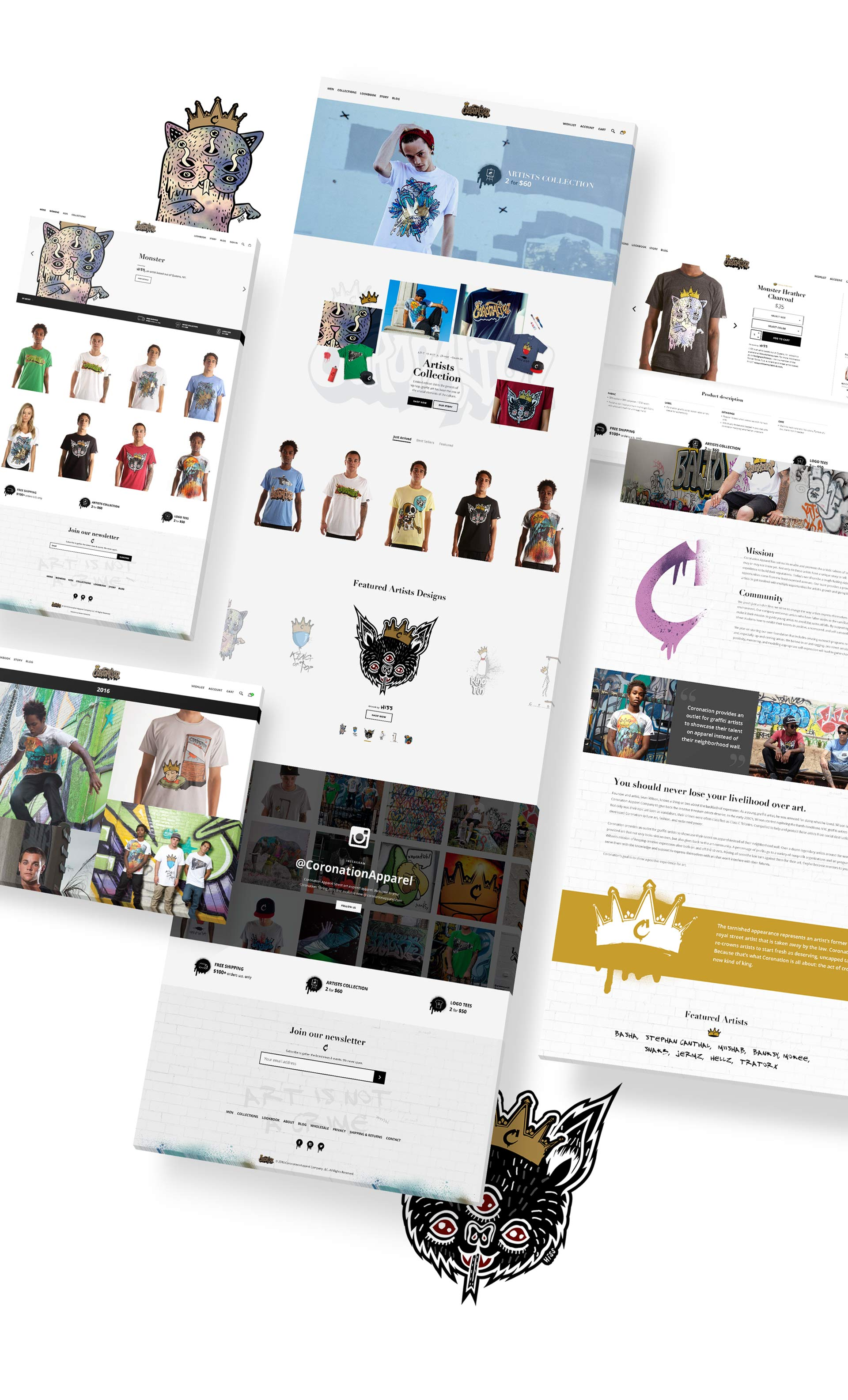 Coronation Apparel Website Pages