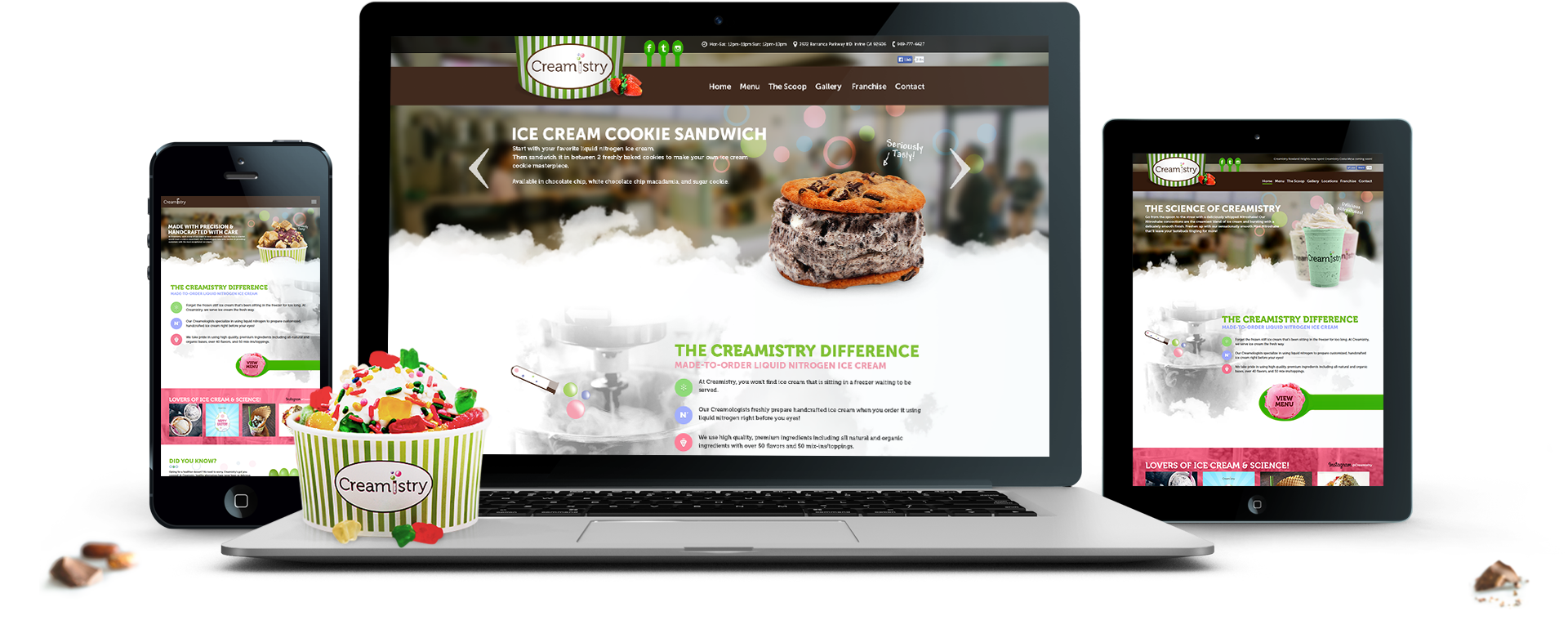 Creamistry Website Mock Up