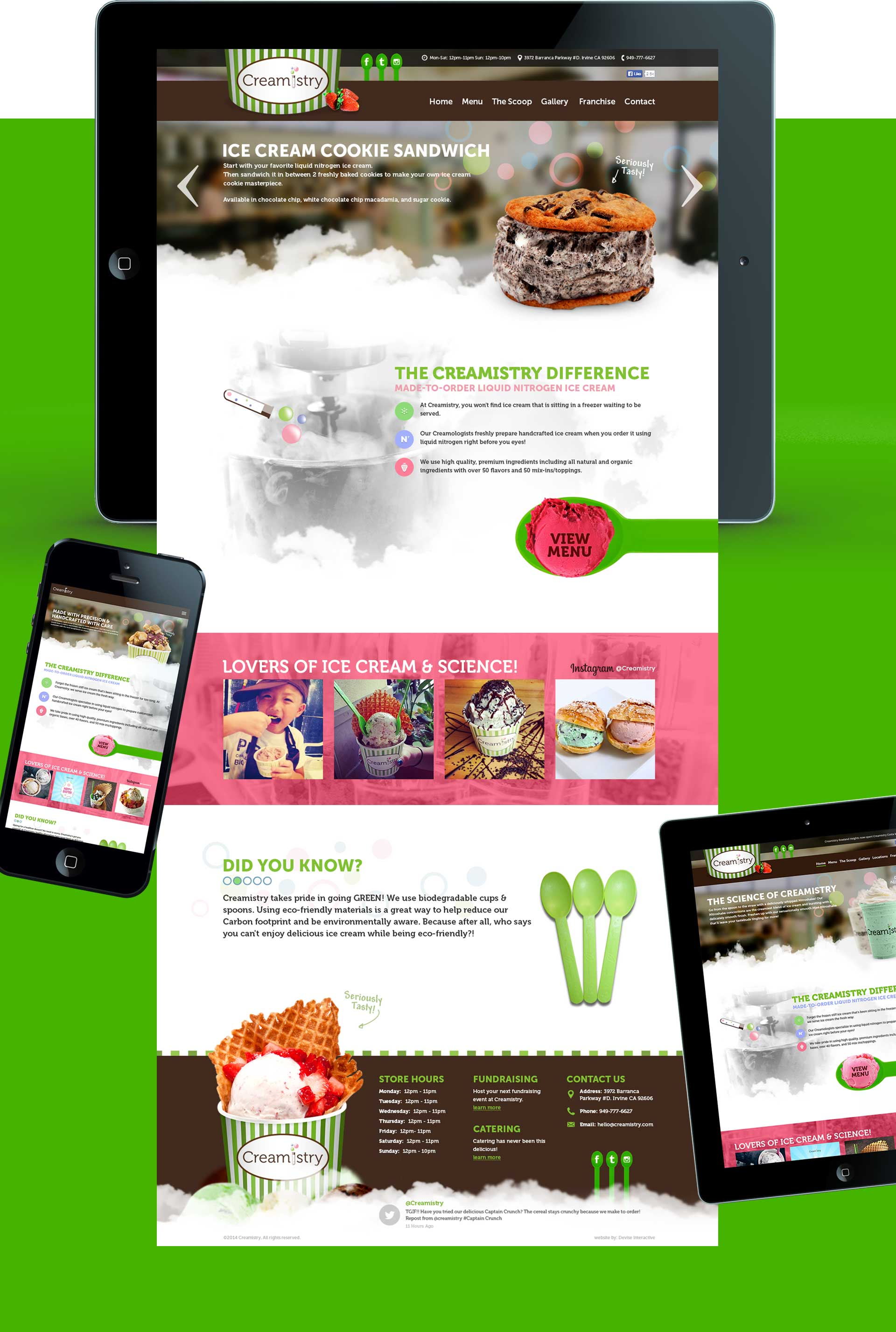 Creamistry on Mobile Devices