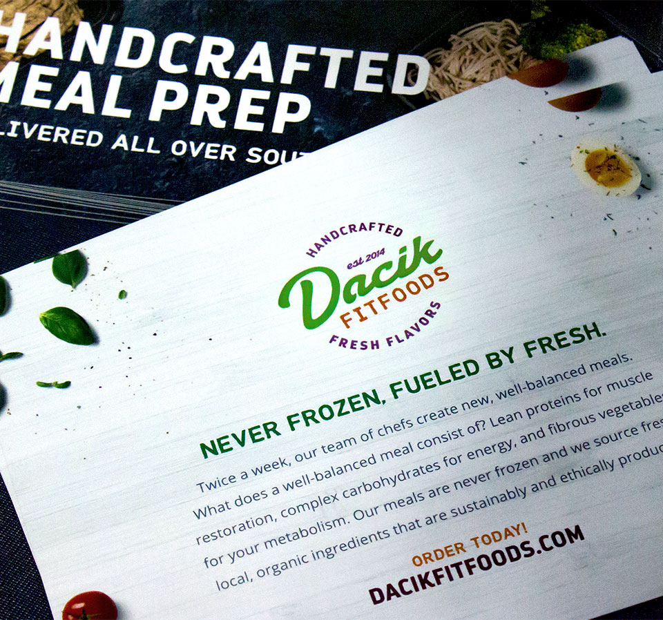 Dacik Fit Foods cards