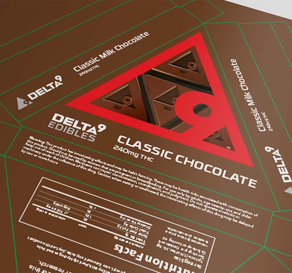 Delta9 edible packaging