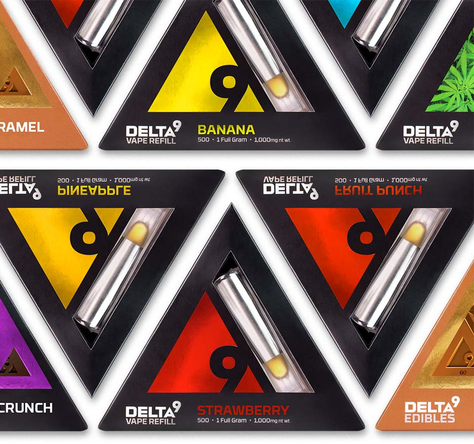 Delta9 vape refill packaging