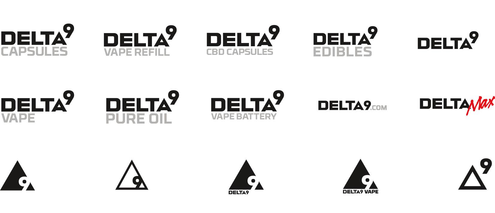 Delta9 product logos