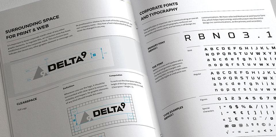 Delta9 typography