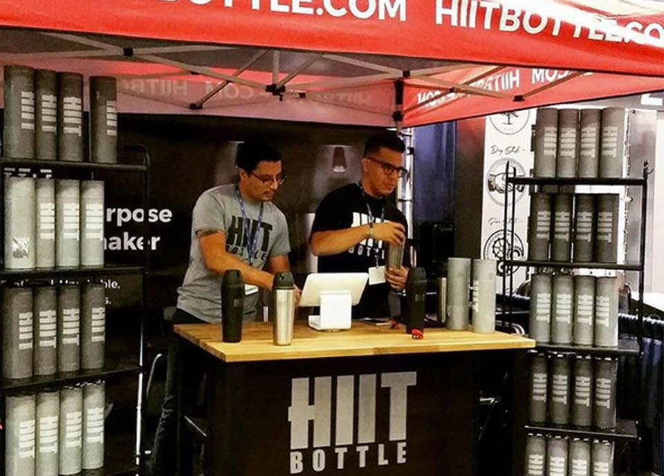 HIIT Bottle Trade Show Booth