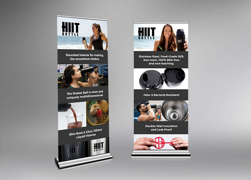 HIIT Bottle Trade Show Banners