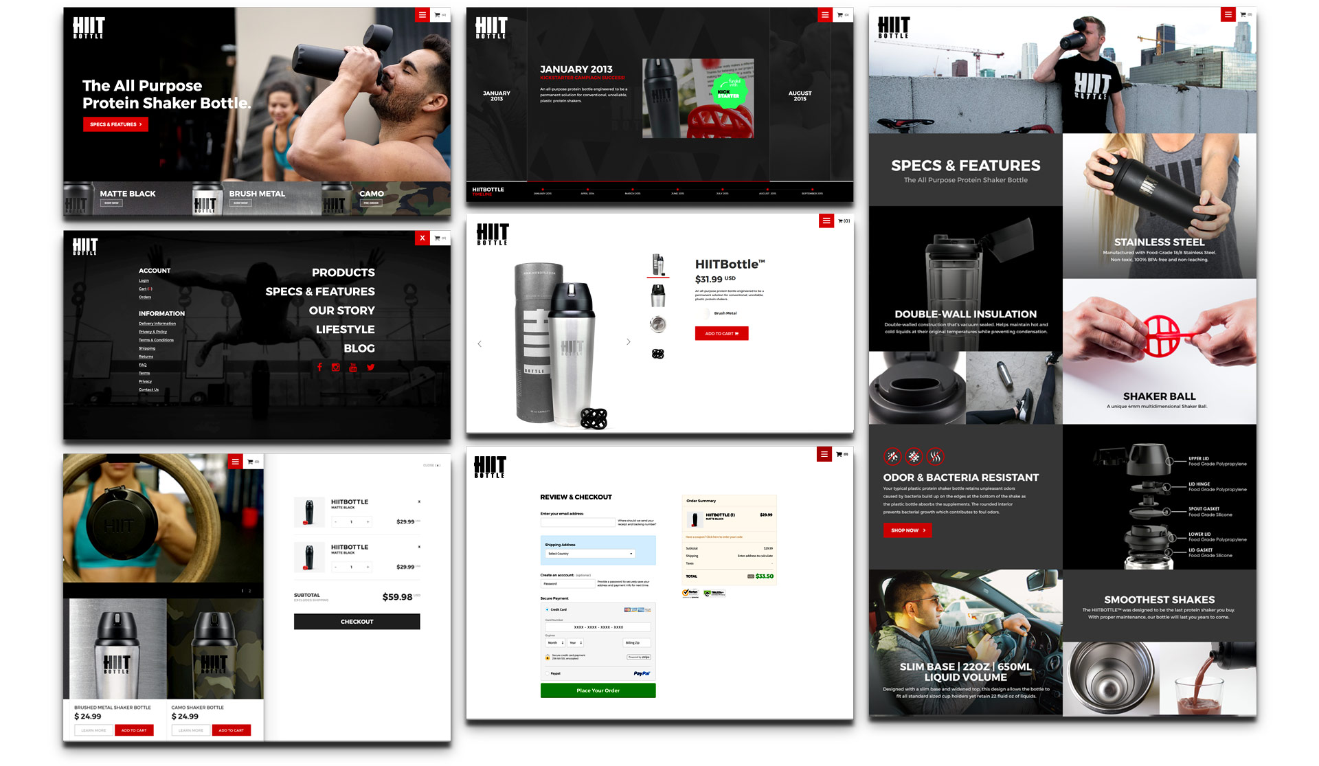 HIIT Bottle Website Pages