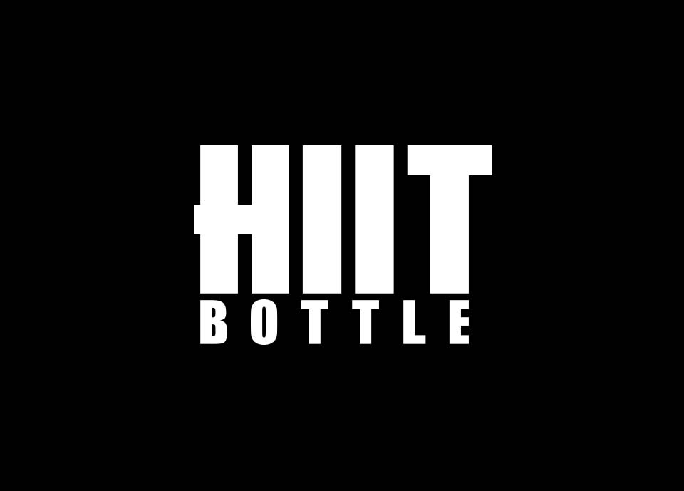 HIIT Bottle Black and White Logo