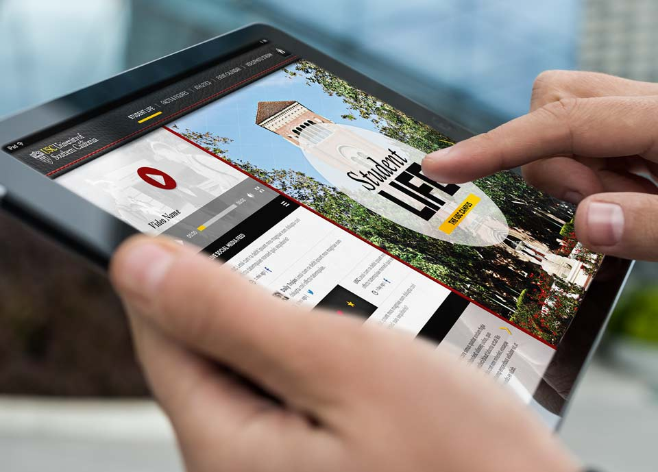USC Mobile Application on Mobile